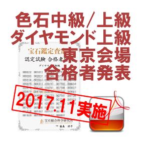 育成講座色石中級上級ダイヤ上級-201711東京