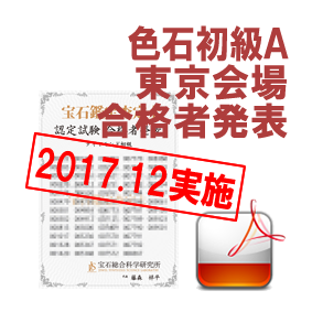 育成講座色石初級A-201712東京